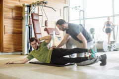 Instructor Working at Gym